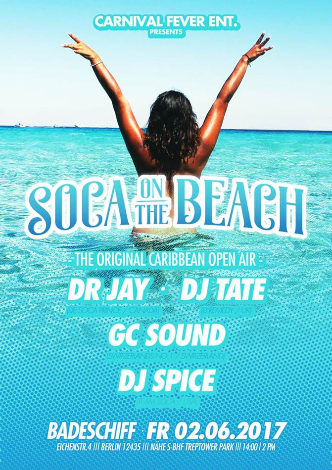 Soca on the beach