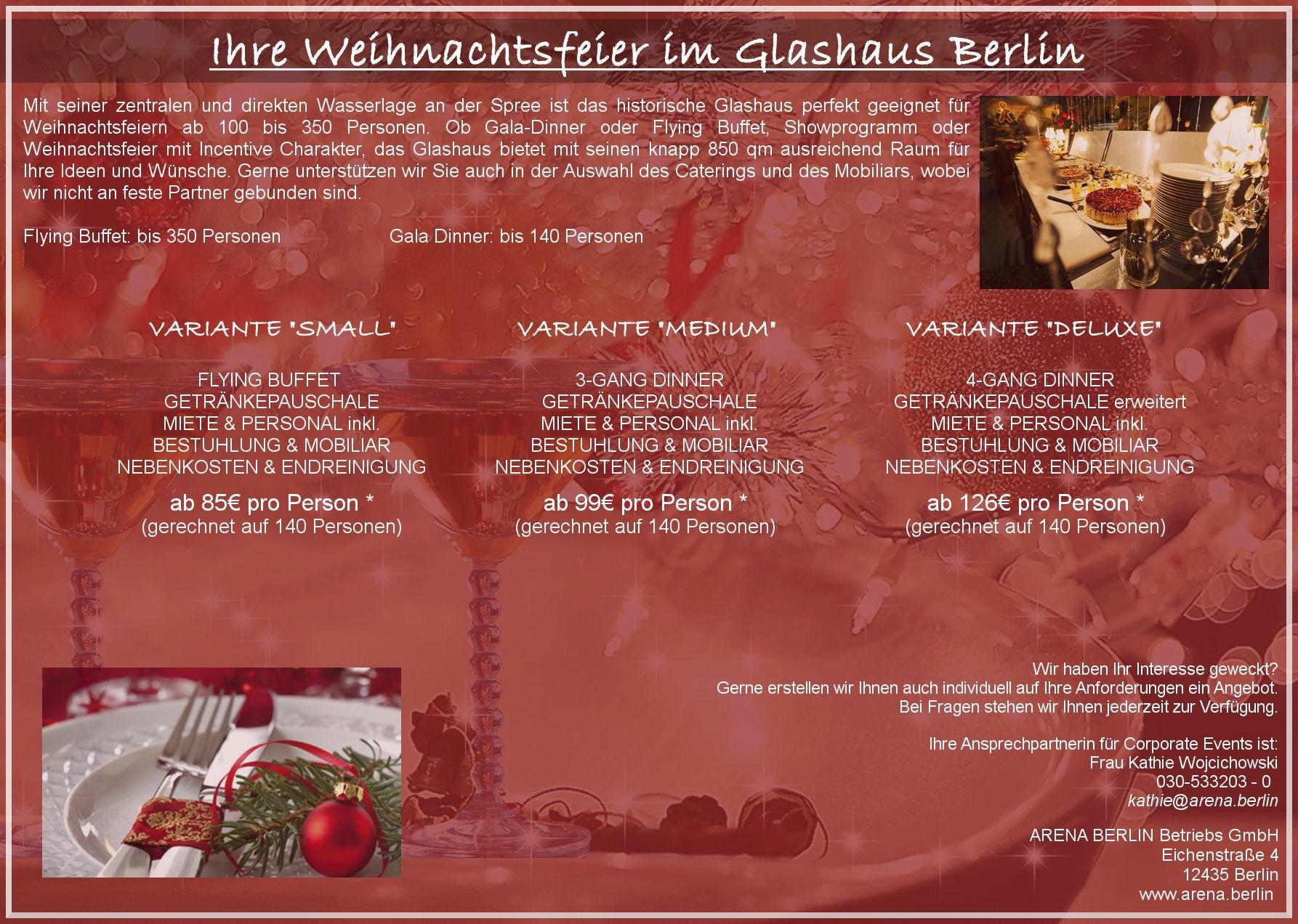 ihre weihnachtsfeier im glashaus berlin arena berlin. Black Bedroom Furniture Sets. Home Design Ideas