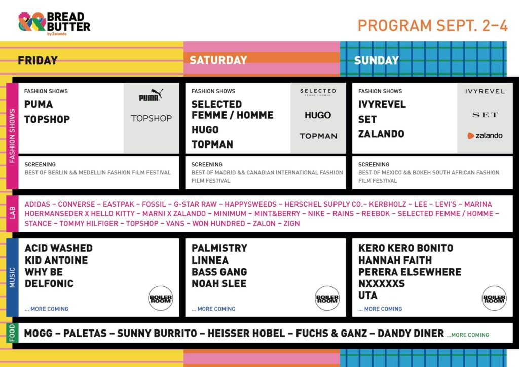 Bread & Butter Timetable